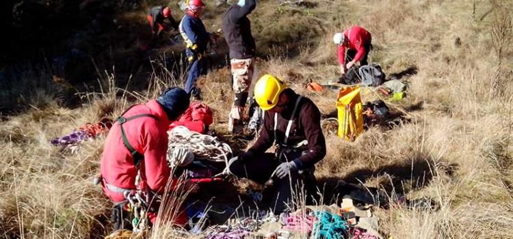 Тренировка на Пловдивския отряд на Пещерно спасяване